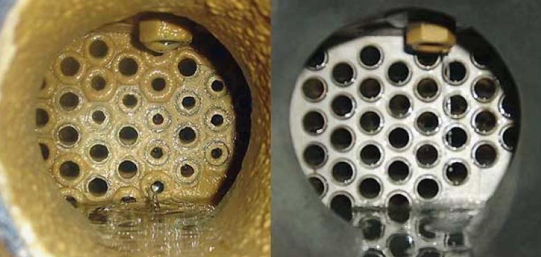 Effet du Wellan2000 sur un échangeur de chaleur